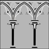 Buy Gothic Arches Stencil From The Library Range Of GENERAL Stencils