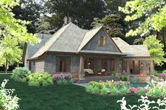 Cottage Style House Plans - 2482 Square Foot Home , 1 Story, 4 Bedroom and 3 Bath, 2 Garage Stalls by Monster House Plans - Plan 61-124
