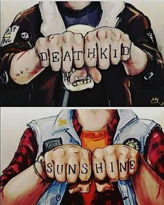 #PJO #HoO #ToA | SOLANGELO | WILL AND NICO TATTOOS | Death Kid and Sunshine