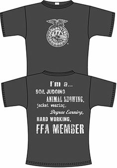 Member of poudre ffa. Showing Livestock, Country Shirts, Ffa, Agriculture, Shirt Designs, Reptile Cage, Reptile Enclosure, Cattle, Farming Quotes