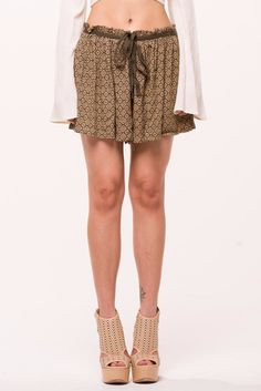 (alo) Native print bohemian shorts