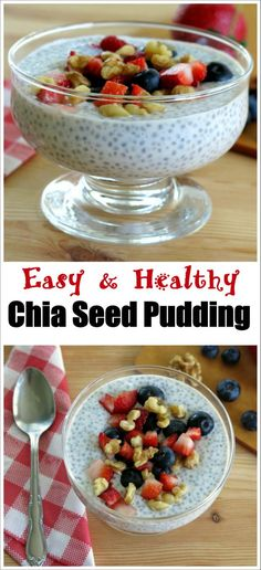 Vanilla Chia Seed Pudding Recipe - easy breakfast, healthy snack or tasty dessert - you will love this!