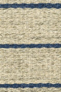 Carson stripe handwoven sisal rug in Blue colorway, by Merida.