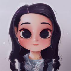 Cartoon, Portrait, Digital Art, Digital Drawing, Digital Painting, Character Design, Drawing, Big Eyes, Cute, Illustration, Art, Girl, Emmy Perry