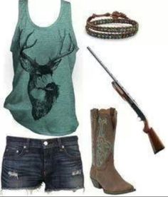 Country Girl Outfit, with the gun and all :)