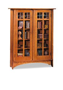 Tall mission style curio cabinet. I\'ve been looking for one just ...