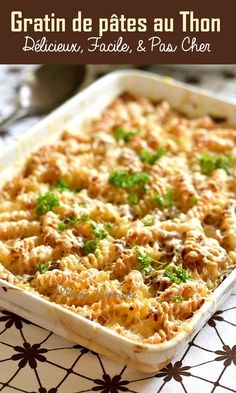 Here is a delicious recipe for tuna pasta gratin. Batch Cooking, Cooking Recipes, Healthy Recipes, Diner Recipes, Breakfast Recipes, Dessert Recipes, Pasta, Food Items, Food Inspiration