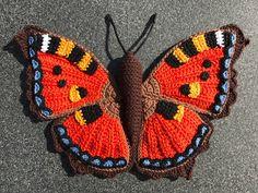 Haakpatroon de kleine vos vlinder