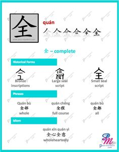 #365Chinese - Character of the Day @ #PaceMandarin quán 全 complete http://www.pace-mandarin.com/quan2-complete/