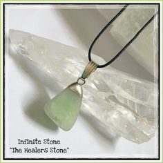 """✨ Infinite Stone Pendant Necklace ✨ Infinite stone is """"The Healers Stone"""". It's a very tender me gentle stone that helps one connect to the angelic guidance. It provides great healing energy for past-life issues. It promotes forgiveness and compassion for yourself and what you've been through. Helps heal issues and imbalances that were left unresolved in the past. It also helps clear emotional baggage left from previous relationships. Infinite Stone is Great For Nurses and Anyone in The…"""