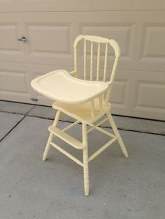 Vintage Wooden High Chair by savannah6783 on Etsy