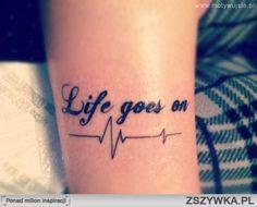tetování Life goes on