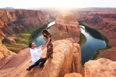 This marriage proposal at Horseshoe Bend in the Grand Canyon is unreal!