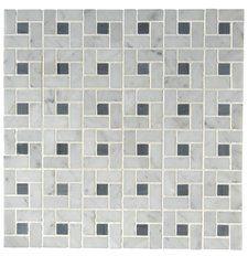 Basketweave tile from Waterworks