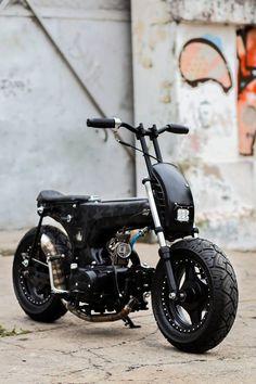 Honda Dax, Honda Ruckus, Mini Motorbike, Bobber Motorcycle, Motorcycle Types, Motorcycle Design, Custom Motorcycles, Custom Bikes, Electric Bike Kits