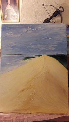Dune of pyla oil painting