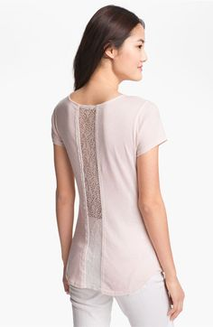 LAmade Lace Back Tee available at Nordstrom - great for summer with white pants