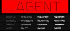 Free Font Of The Day : Agent