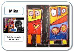Mika - Portrait d& - Modern History, Art History, Kindergarten Art Lessons, Mika, Ecole Art, Funny Slogans, Art Plastique, Oeuvre D'art, Oeuvres