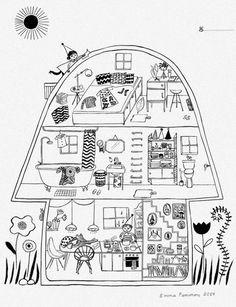 177 best cut aways images cutaway drawings illustrations  un petit blog by emma farrarons journal maira kalman writing blog artist