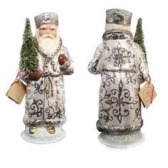Ino Schaller Paper Mache Russian Santa Christmas Candy Container