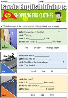 Clothing and Fashion - All Things Topics Tenses Grammar, Compound Words, 1 John, Names, English, Writing, Clothing, Shopping, Fashion