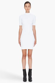 T BY ALEXANDER WANG White Thermal Dress