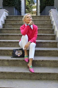 fashion over 50 women top 10 anti aging Fashion Over Fifty, Over 50 Womens Fashion, Fashion Over 50, Ladies Fashion, Mode Outfits, Casual Outfits, Fashion Outfits, Fashion Tips, Fashion Design