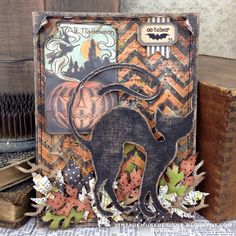 Vintage Muse Designs: All Halloween. Halloween Paper Crafts, Halloween Tags, Halloween Projects, Holidays Halloween, Vintage Halloween, Happy Halloween, Halloween Decorations, Halloween Stuff, Halloween Ideas