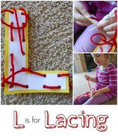 Letter L Activity: Lacing.