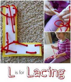 Letter L Activity: Lacing.