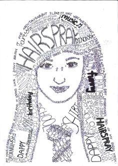 Calligram Portrait! Words to express yourself! (Miss Allen's 2012/13 Year 9 Class)
