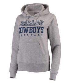 c35226137 Dallas Cowboys Women s Gray Practice Glitter Pullover Hoodie XL