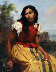 "Antônio Rafael Pinto Bandeira - ""Moça sentad"", 1886 oil on canvas Museu Antônio Parreiras Rio de Janeiro, Brazil"