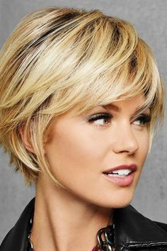 HairDo Wigs – Textured Fringe Bob ( Wig Features: Heat Friendly See Heat Friendly Care Full, side sweeping fringe and chin-length layered sides beautifully blend into textured layers at the nape for a no-fuss, . Choppy Bob Hairstyles, Bob Hairstyles For Fine Hair, Short Bob Haircuts, Short Hairstyles For Women, Cut Hairstyles, Layered Hairstyles, Trending Hairstyles, Hairstyles For Over 50, Teenage Hairstyles