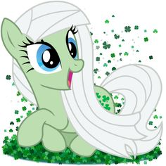 This is Clover. She loves to sit in the grass and read. A very outgoing pony and full of laughter