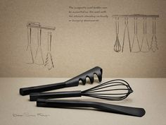 RIG-TIG by STELTON kitchenware,spatula,whisk,ladle,pasta spoon,tongs