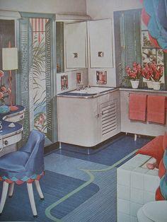 1950s Bathroom by Library Fashionista, via Flickr