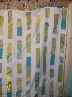 Modern Rectangle Quilt. Created and gifted 2011