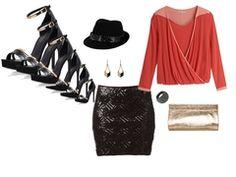 black shining skirt by chiara