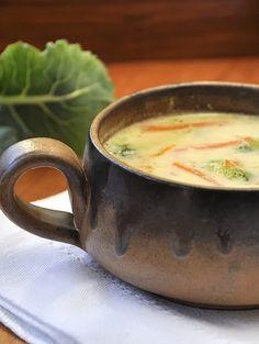 Σούπα λαχανικών με τυρί cheddar / Cheddar broccoli soup