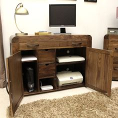 Innovative hidden home office computer desk Storage Solid Walnut Hidden Home Office Shiro At Store Innovative Solid Walnut Hidden Home Office Designed To Hide All Of Your Computer Equipm Saxen Furniture Pinterest Best Hideaway Or Hidden Office Desks For The Home Images Office