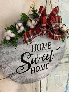 Blue Christmas Decor, Farmhouse Christmas Decor, Christmas Wood, Christmas Signs, Christmas Wreaths, Farmhouse Decor, Fall Wreaths, Fall Crafts, Holiday Crafts