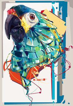Las aves ilustradas de Denis Gonchar | La Jirafa Rosada