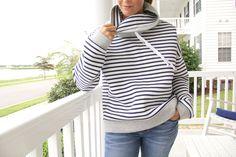 Women's Cowl Neck Sweatshirt - Free Pattern