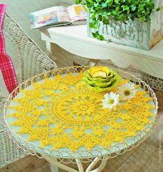 Hoje tem Flor !!!: Centro de mesa em crochê com gráfico