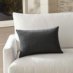 Sunbrella ® Charcoal Outdoor Lumbar Pillow