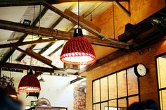 even seeds light by night.owl, via Flickr  crocheted light covers...melbourne cafe
