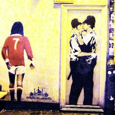 Kissing Policemen by Banksy spotted in Brighton