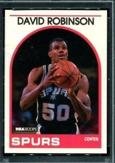 David Robinson 1989 Hoops Rookie #310 MINT FROM PACK #SPURS